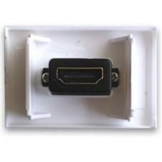 BRobotix 938313 toma de corriente HDMI Blanco