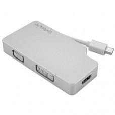 StarTech.com Adaptador de Audio y Vídeo para Viajes: 3 en 1 - Conversor Mini DisplayPort a VGA, DVI, HDMI - 4K - de Aluminio