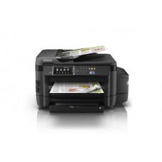 Epson EcoTank L1455 - Impresora multifunción - color - chorro de tinta - 297 x 432 mm (original) - A3 (material) - hasta 16 ppm (copiando) - hasta 32 ppm (impresión) - 500 hojas - 33.6 Kbps - LAN, Wi-Fi(n), host USB