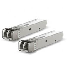 UFiber Mdulo SFP+ 10G, transceptor MiniGibic MultiModo 10 Gbps, distancia 300m, conectores LC, paquete de 2 piezas