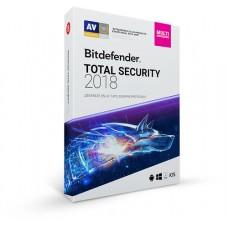 Bitdefender Total Security 2018, 1Y, 3U, MX 3 licencia(s) 1 año(s) Español