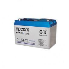 Acumulador EPCOM PL-110-D12 - Sealed Lead Acid (VRLA), 110000 mAh, Dispositivo de seguridad, 12 V, Azul, Blanco