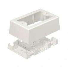 Panduit JBX3510WH-A caja de tomacorriente Blanco