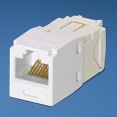 Conector Jack RJ45 Estilo TG, Mini-Com, Categora 6, de 8 posiciones y 8 cables, Color Blanco