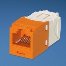 Conector Jack RJ45 Estilo TG, Mini-Com, Categora 6, de 8 posiciones y 8 cables, Color Naranja