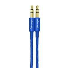 CABLE DE AUDIO VORAGO CAB-108 3.5 MM REDONDO METALICO AZUL