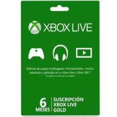 XBOX LIVE 6 MONTH GOLD CARD FPP GEOFENCD
