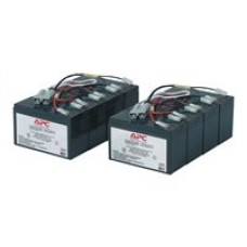 APC Replacement Battery Cartridge #12 - Batería de UPS - 2 x Ácido de plomo - negro - para P/N: DL5000RMT5U, SU3000R3IX160, SU5000R5TBX114, SU5000R5TBXFMR, SU5000R5XLT-TF3