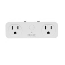 Nexxt  - Solutions Connectivity - NHP-D610 - wireless - 2 Toma corrientes - 2 puertos USB - Compatible con Amazon Alexa y Google Assistant - 1875 W de potencia máxima - 200 joules