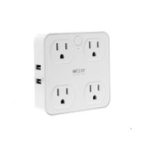 Nexxt - Solutions Connectivity - 4 Outlet & 4 USB - Conexión Wi-Fi - 4 toma corriente - 4 puertos USB - Compatible con Amazon Alexa y Google Assistant - 1875 W de potencia maxima - 900 joules