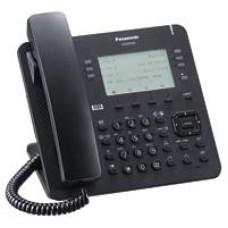 TELEFONO IP PROPIETARIO PANASONIC  6X4 BOTONES CO FLEXIBLES, 2 PUERTOS ETHERNET GB, POE. COMPATIBLE COMPATIBLE CON IP-PBX  NS/NSX COLOR NEGRO.
