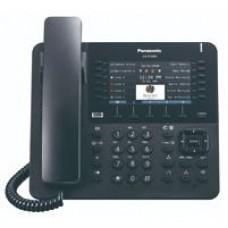 TELEFONO IP PROPIETARIO 12X4 BOTONES CO FLEXIBLES, 2 PUERTOS ETHERNET GB, POE. COMPATIBLE COMPATIBLE CON IP-PBX  NS/NSX COLOR NEGRO.