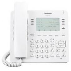 TELEFONO IP PROPIETARIO PANASONIC  6X4 BOTONES CO FLEXIBLES, 2 PUERTOS ETHERNET GB, POE. COMPATIBLE COMPATIBLE CON IP-PBX  NS/NSX COLOR BLANCO.