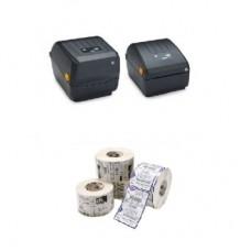 Kit Punto de Venta MyBusiness Basico 1D Impresoras de Etiquetas ZEBRA ZD220T (IMPZBR2600) - Etiqueta Original ZEBRA Z-Perform 2000D (ACCETI340)