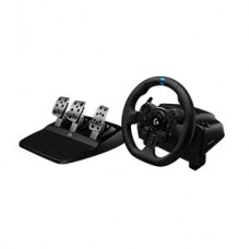 Logitech G923 Racing Wheel - Wheel and pedals set - Wired - Black - para Sony PlayStation 4