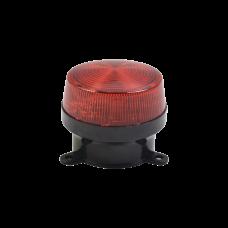 Mini estrobo color Rojo con montaje de pestaa.