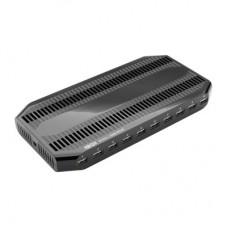 Estación de Carga USB Tripp Lite con 10 Puertos con Almacenamiento Ajustable - Salida del Cargador USB 12V 8A (96W) U280-010-ST