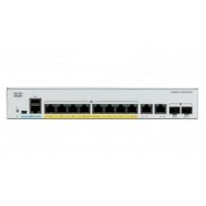 Switch Cisco Catalyst C1000-8P-E-2G-L 8 puertos Gigabit Ethernet - POE, Ext PS, 2x1G SFP