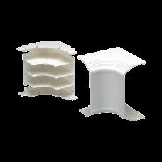 Esquinero interior, para uso con canaleta T70, Material PVC Rgido, Color Blanco Mate