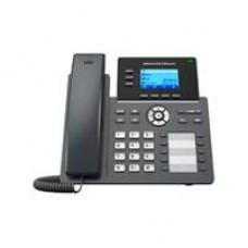 TELEFONO IP 2 PUERTOS DE RED GIGABIT, PANTALLA LCD RETROILUMINADA DE 132X64, 10 TECLAS BLF CONFIGURABLES, GESTION Y APROVISIONAMIENTO CON GDMS, SOPORTE DE EHS, POE INCORPORADO