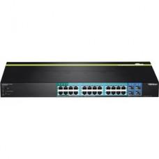 TRENDnet TPE TPE-2840WS 28-Port Gigabit Web Smart PoE+ Switch - Conmutador - Gestionado - 4 x 10/100/1000 (PoE+) + 20 x 10/100/1000 (PoE) + 4 x SFP - sobremesa, montaje en rack - PoE+ (185 W)