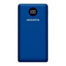 BATERIA DE RESPALDO POWER BANK ADATA P20000QCD 20000MAH/2 USB A/ 1 USB C/INDICADOR DE CARGA DIGITAL/AZUL