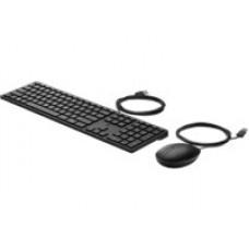 Kit de teclado y mouse 320MK 9SR36AA#ABM HP - alámbrico, QWERTY Ingles. Mouse óptico. Longitud cable: 1.8m