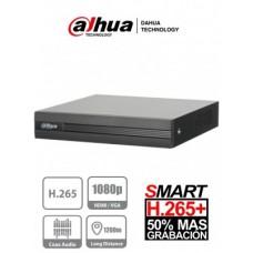 DVR Dahua 4 Canales HDCVI DH-XVR1B04H - Pentahibrido 4 Megapixeles Lite, Compresión de video H265+