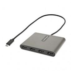 ADAPTADOR USB-C A 4X HDMI USB TIPO C A 4 MONITORES 1080P