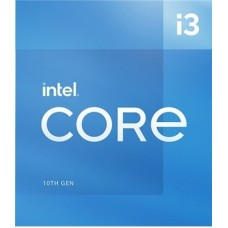 Procesador Intel Core i3-10105 3.70GHz - 4 núcleos Socket 1200, 6 MB Caché. Comet Lake. (COMPATIBLE CON MB CHIPSET 400 y 500)