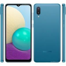 Teléfono Celular  SAMSUNG A02 - 6.5 pulgadas, Cortex-A53, 2 GB, Azul, Android 10