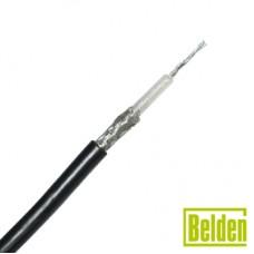 Cable RG58AU con blindaje de malla de cobre estañada 95%, aislante de polietileno.