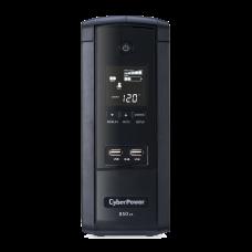 UPS Con 5 Años de Garantía de 850VA / 510W Con Pantalla LCD Inteligente, Regulador de Voltaje AVR, 10 Conectores NEMA 5-15R y 2 Puertos USB 2.1 Para Carga de Celular