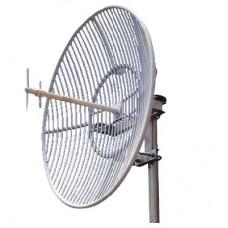 Antena Parablica de Rejilla | 824-960 MHz | 23 dBi de Ganancia | Cubre muy bien la Banda 5 (850 MHz) Celular. Antena Donadora que se utiliza para los amplificadores de seal celular para cubrir comunidades alejadas.