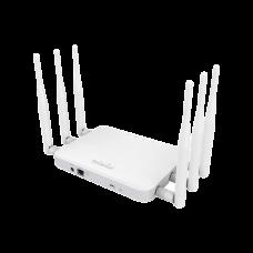 Punto de Acceso y Repetidor para Interior ac (3x3) de Largo alcance, 800mW de potencia, Doble Banda Simultanea 1300 Mbps en 5 GHz y 450 Mbps en 2.4 GHz, 6 Antenas desmontables de 5 dBi, Soporta PoE 802.3at