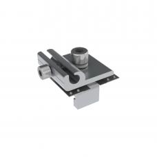 Conector para conexión a tierra fisica de montajes de paneles solares con riel 7