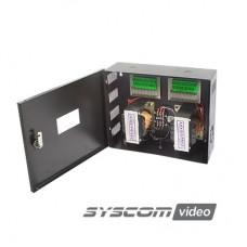 Fuente de poder profesional CCTV de 24 Vca @16A, 16 cámaras, volt. de entrada: 115, 127, 132 Vca (Seleccionable).