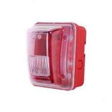 Cubierta para instalar sirenas estrobo en exterior compatible con estrobos sirenas Hochiki color rojo