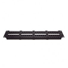 Patch panel UTP de 48 puertos Cat6, 19in, 2U, con barra para organizar cable