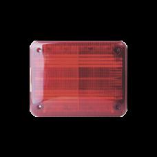 Luz de advertencia Quadraflare LED, Flasher Integrado y Mica de color Rojo