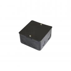 Caja de registro de acero galvanizado, 10x10 cm, Color Negro (11000-00000)