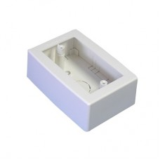 Caja de Registro Universal, color blanco de PVC auto extinguible (7902-02001)