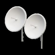 Kit de 2 Antenas Parabólicas de Frecuencia Extendida, 4.8 - 6.5 GHz, 28 dBi, Conectores N-Macho
