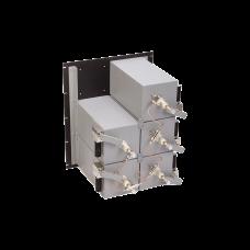 Combinador 440-512 MHz, para 5 Canales, 125 Watt, 200 KHz (min.) de Sep. Tx-Tx, 2 Circ. N Hembra.
